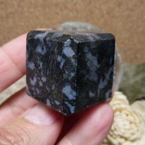 Other - Indigo Gabbro Cube (#1) Gemstone Crystal Decor